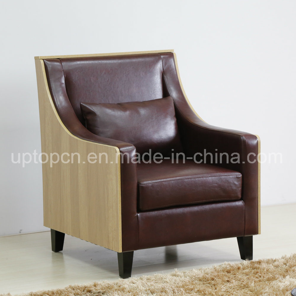 Upholstered Living Room Chairs Hot Item Upscale Modern Leisure Living Room Chair With Wooden Leg And Comfortable Upholstery Sp Hc580