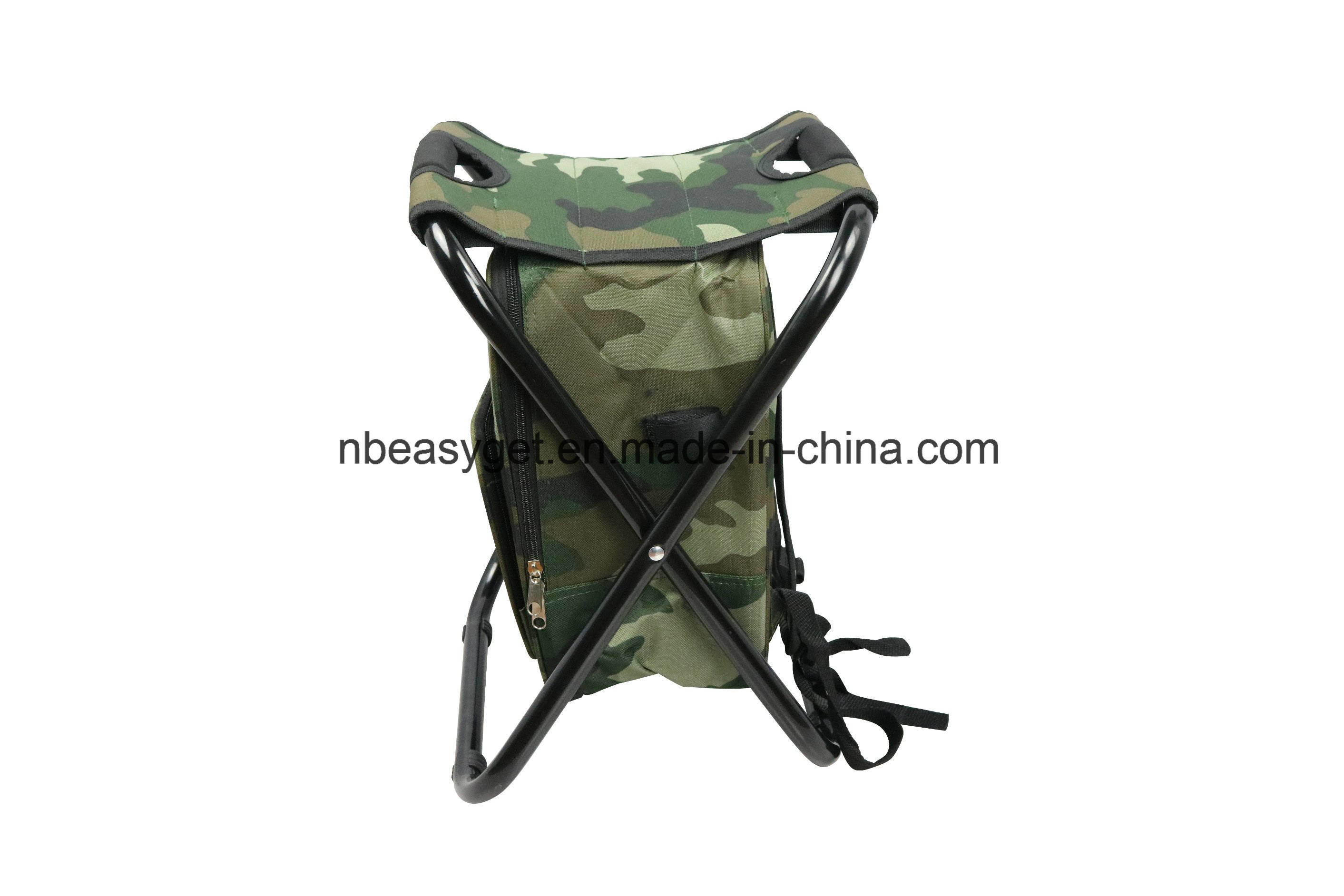 Folding Chair Backpack Hot Item Folding Chair Foldable Camouflage Backpack Cooler Bag 3 In 1 Portable Fishing Stool And Sports Chair