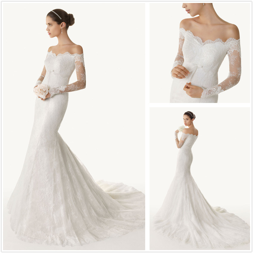 Memorable Wedding Off the Shoulder Lace Wedding Dress  A