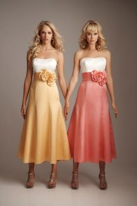 China Bridesmaid Dress, Gorgeous Strapless Two-Tone ...