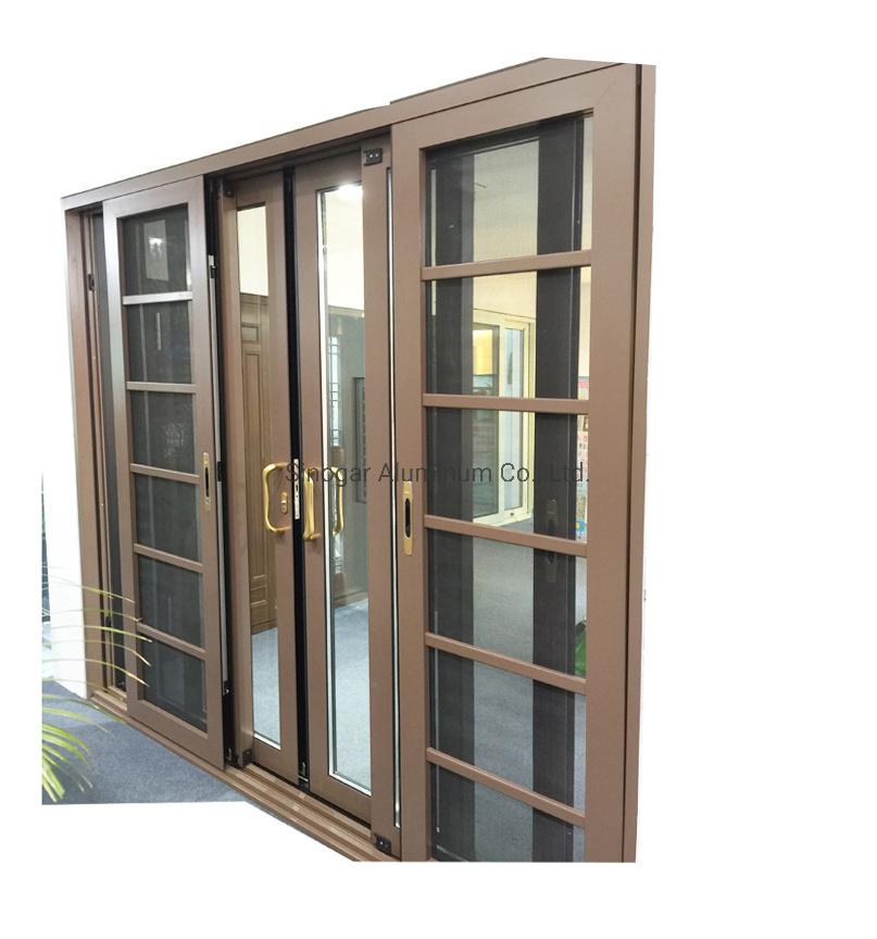 hot item security french exterior aluminium alloy tempered glass sliding window door automatic house kitchen entrance aluminum steel patio doors