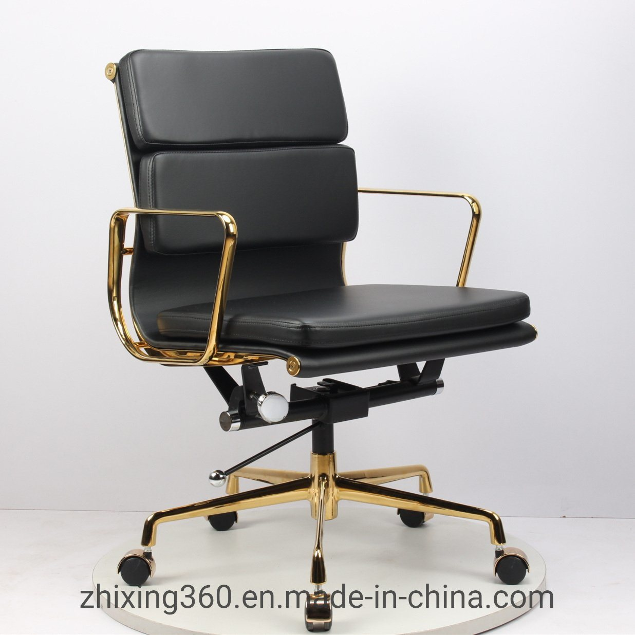 Eames Desk Chair Hot Item Eames Office Chair Designer Chair Engraved Classic Gold Plated Office Swivel Chair Leather Boutique