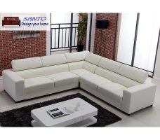 China Leather Corner Sofa Set Modern Design   China Brown ...