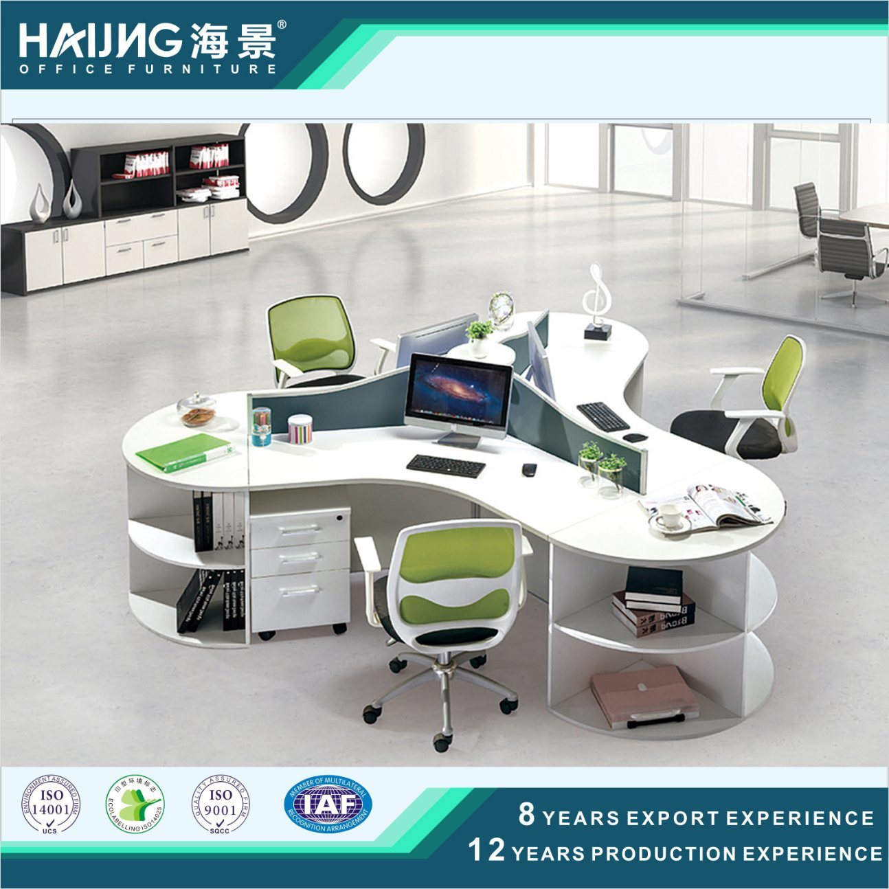 China Modern Round Office Workstation3 Person Workstation