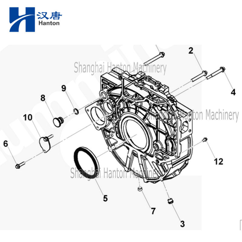 China Cummins truck diesel engine motor 6ISBE parts