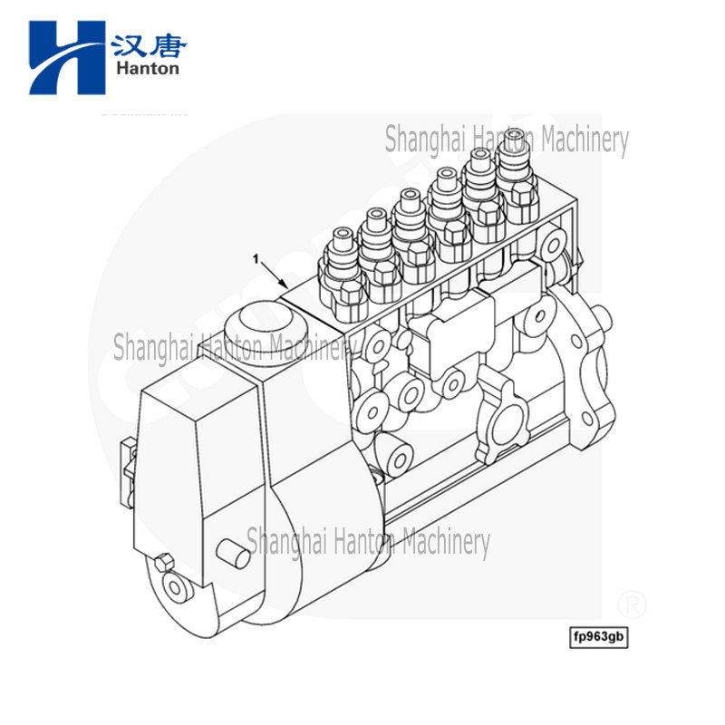 China Cummins diesel engine motor 6CT parts 3976375 fuel