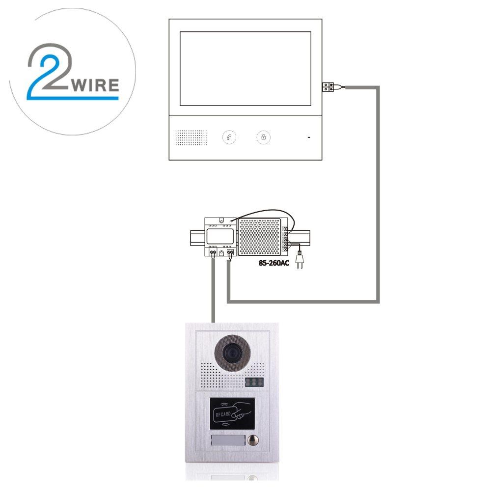 medium resolution of 10 inches doorbell home security interphone video door phone intercom