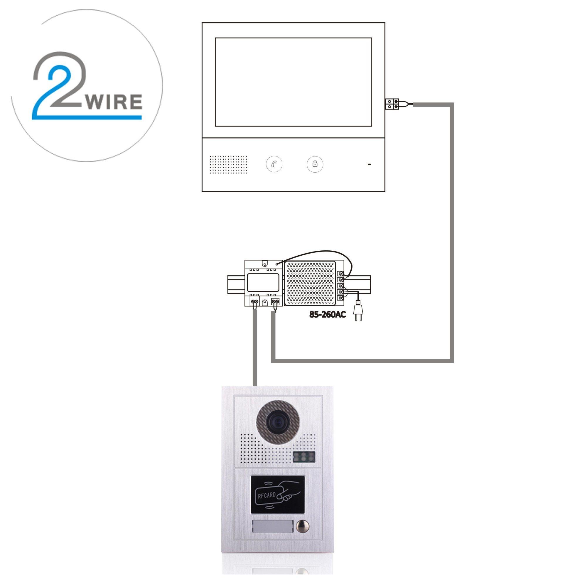 hight resolution of 10 inches doorbell home security interphone video door phone intercom