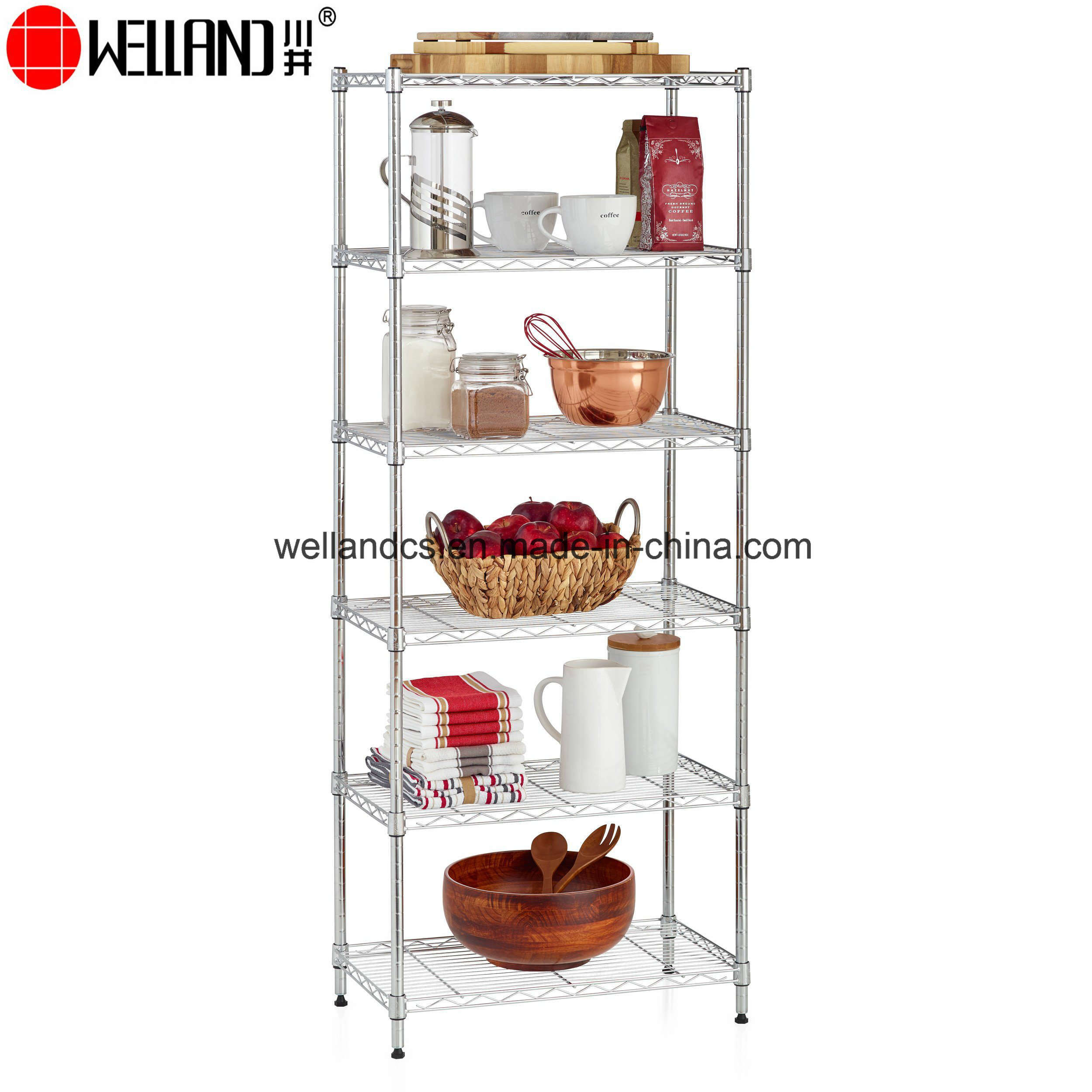 Hot Item Durable Metal Wire Shelf Storage Rack Unit Perfect For Kitchenware Pantry Organization