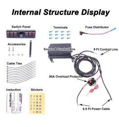 6 rocker switch panel wiring kit control relay box assemblies [ 1001 x 1001 Pixel ]