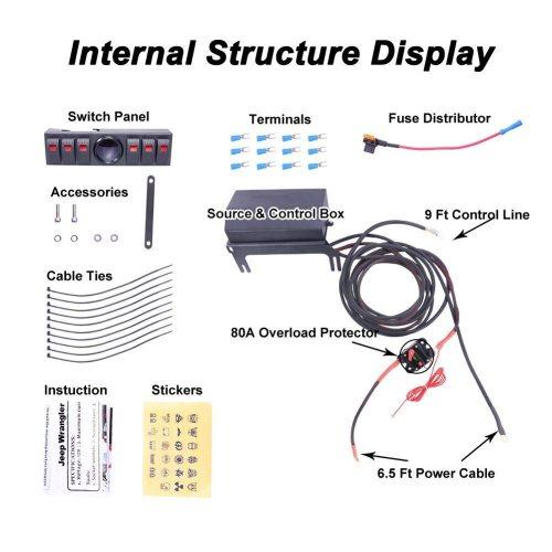 small resolution of 6 rocker switch panel wiring kit control relay box assemblies