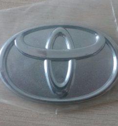 china logo badge silver chrome steering wheel car emblem sticker for toyota china toyota emblem logo emblem manufacturer [ 2850 x 1604 Pixel ]