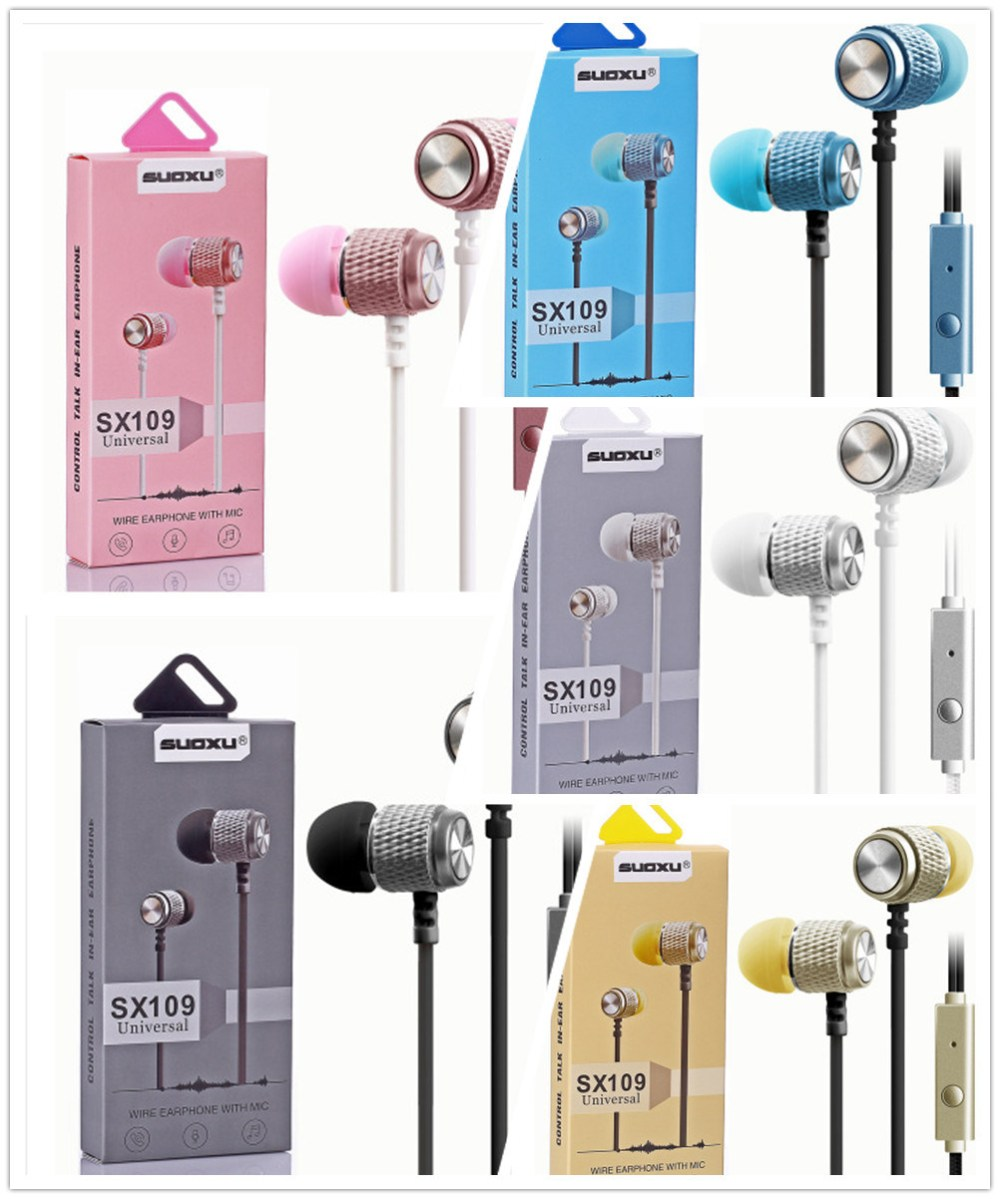 medium resolution of china sx109 braided wiring sport headset stereo earbuds in ear wired earphone handfree universal noise reduction ear phone china earphone microphone