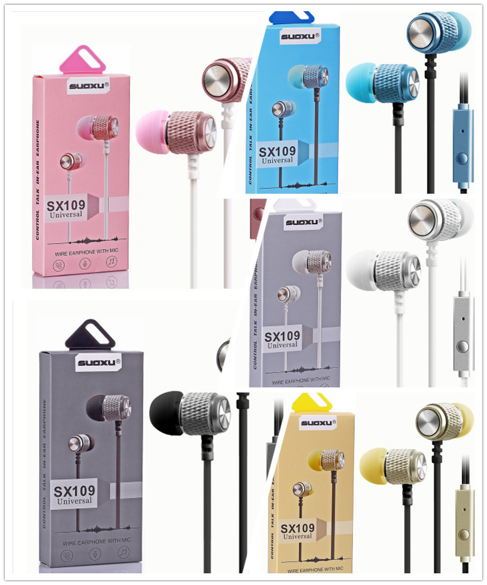 hight resolution of china sx109 braided wiring sport headset stereo earbuds in ear wired earphone handfree universal noise reduction ear phone china earphone microphone