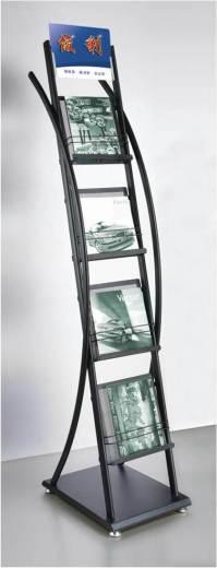 China Black Floor-Standing 4-Tier Magazine Rack ...