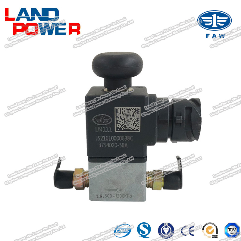 hot item original faw 3754020 50a exhaust brake solenoid valve truck spare parts with sgs certification for china faw heavy truck