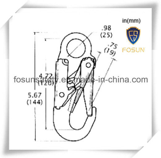 China Safety Harness Accessories Snap Hook (G7115) Photos
