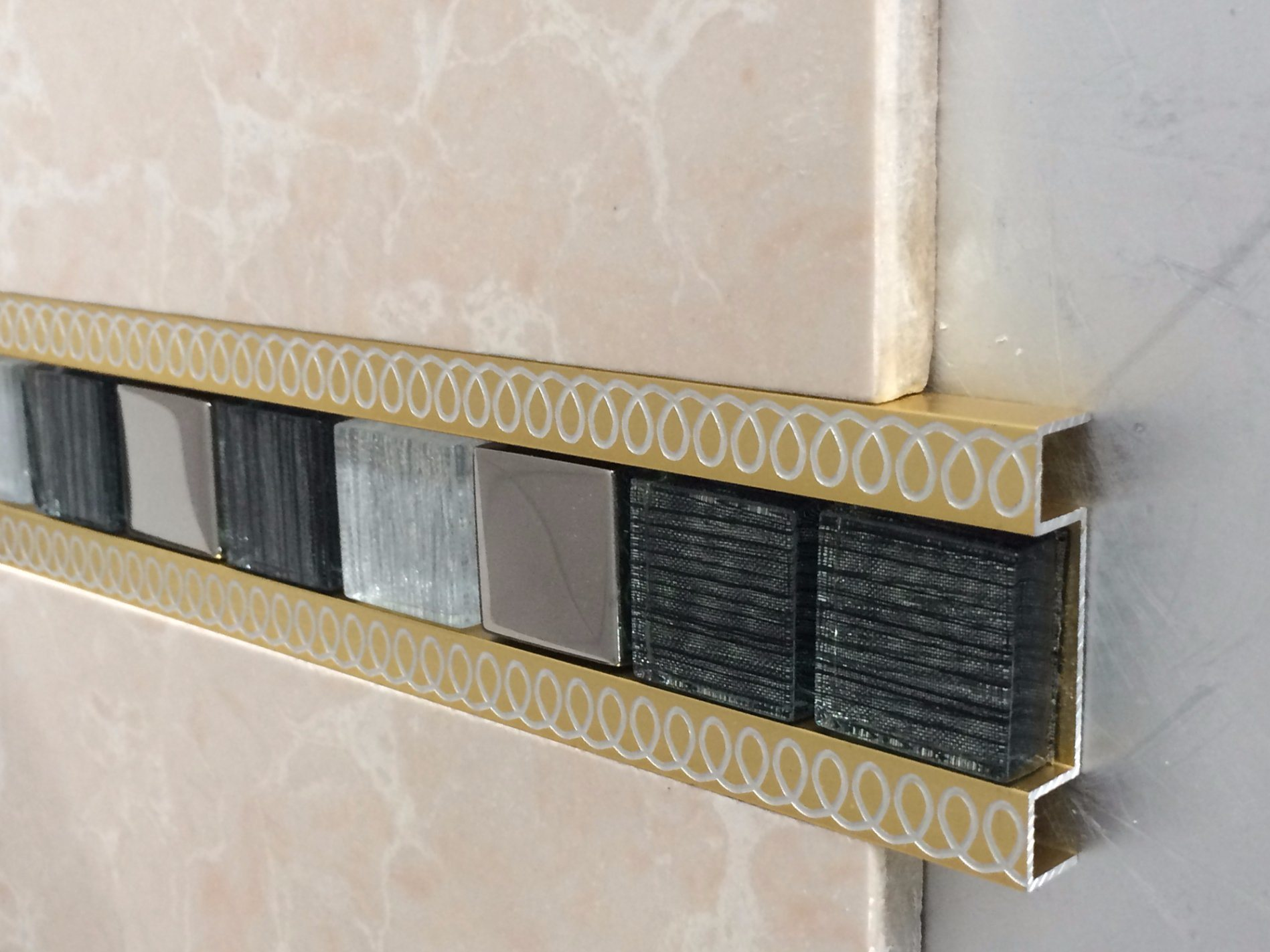 hot item beautrim aluminum premium decorative tile listello trim