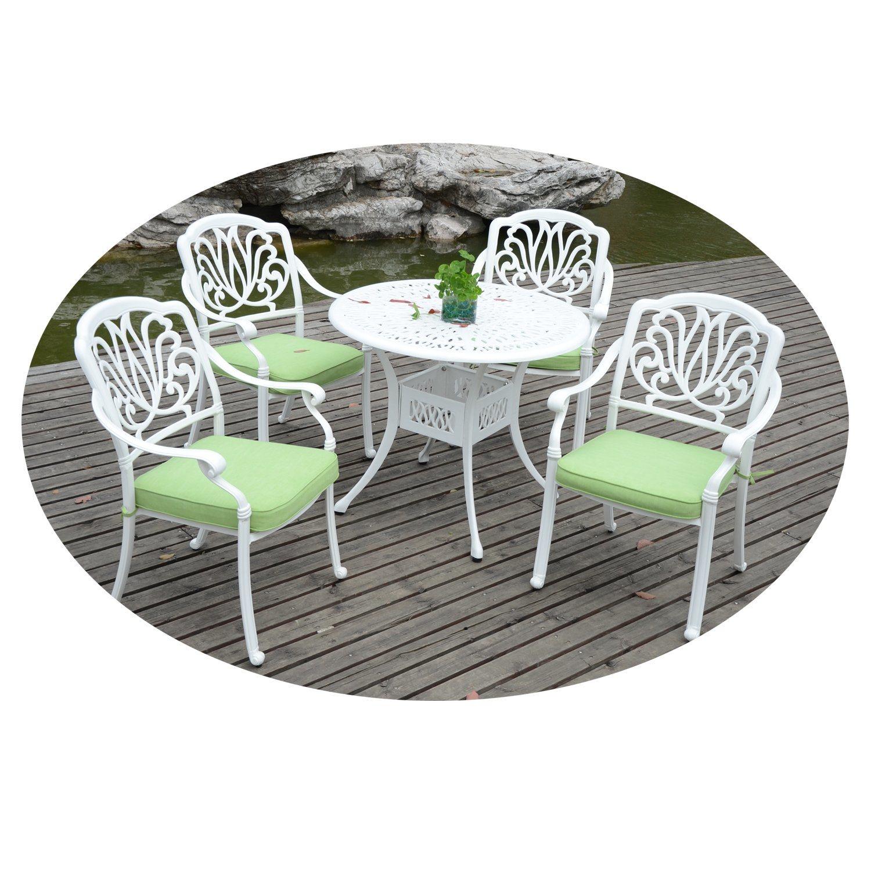 hot item cast aluminum outdoor garden furniture elizabeth 4 seater dining set