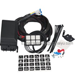 china universally adaptable dc12v led 6 switch panel electronic relay system with circuit control box wiring harness kit for any vehicle china jeep  [ 1001 x 1001 Pixel ]