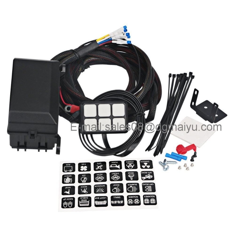 medium resolution of china universally adaptable dc12v led 6 switch panel electronic relay system with circuit control box wiring harness kit for any vehicle china jeep