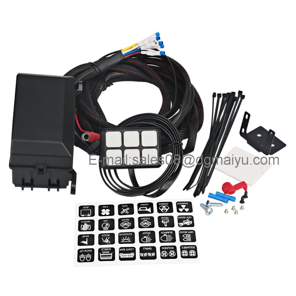 hight resolution of china universally adaptable dc12v led 6 switch panel electronic relay system with circuit control box wiring harness kit for any vehicle china jeep