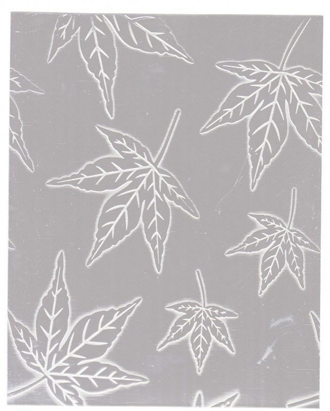 China Maple Leaf Pattern Emboss Stainless Steel Plates