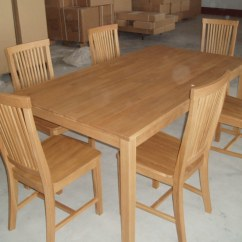 6 Chair Dining Table Folding Ebay China And Chairs Tc8101 Oak