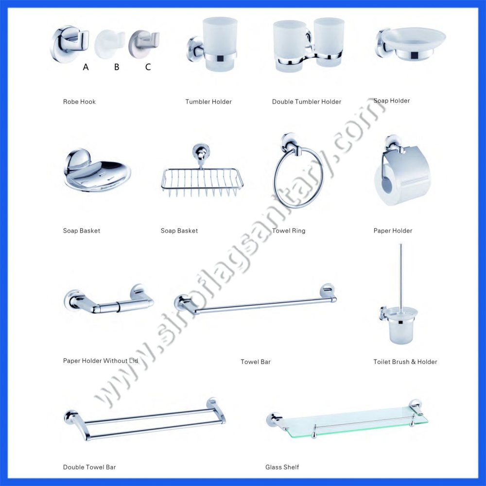 medium resolution of zinc bathroom accessories sets for five star hotel hardware fittings