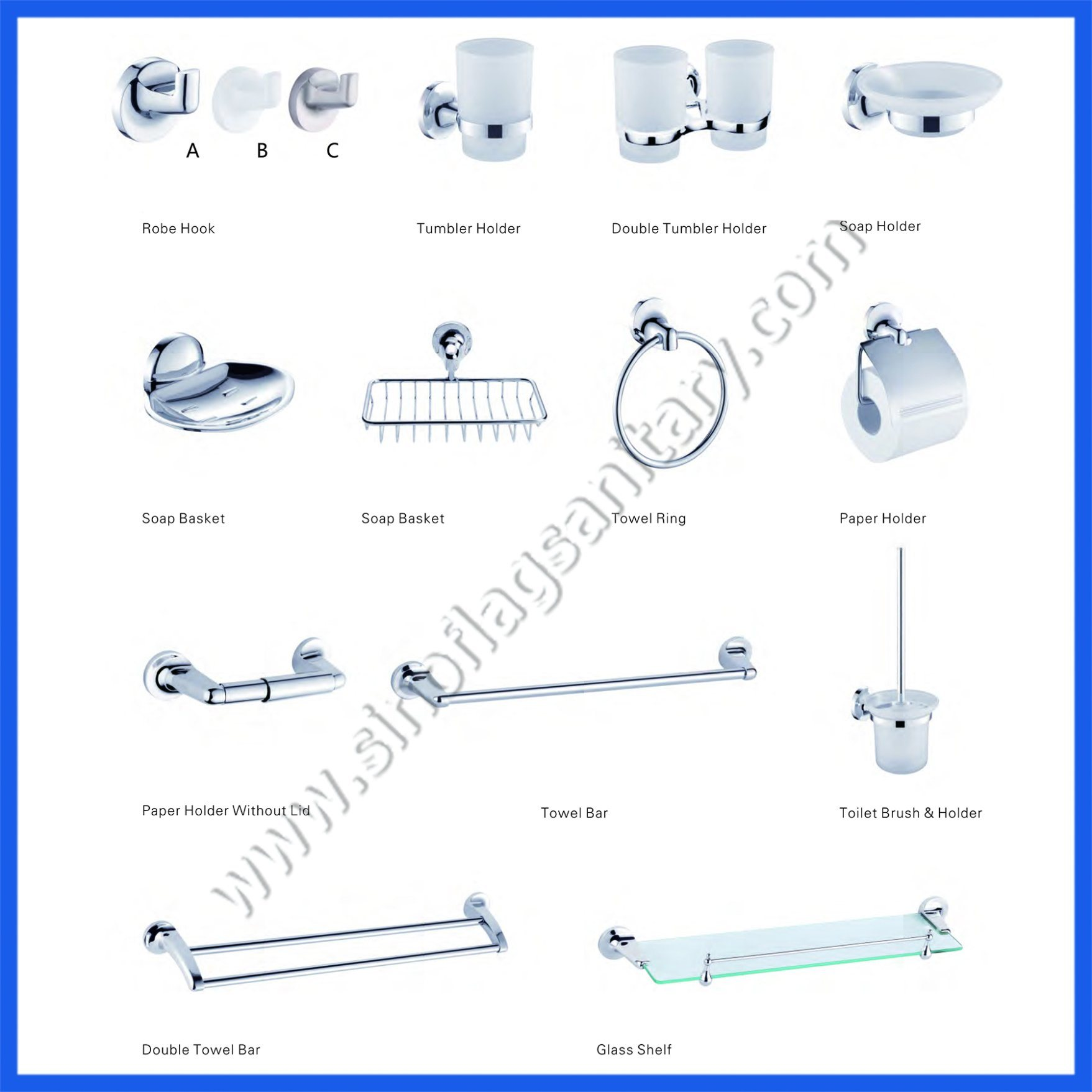 hight resolution of zinc bathroom accessories sets for five star hotel hardware fittings