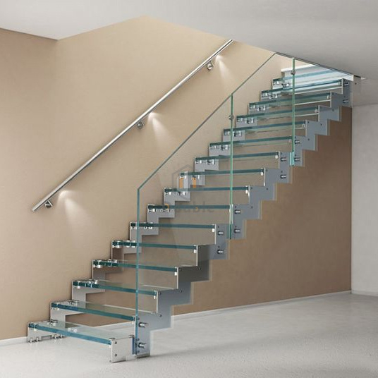 China Straight Glass Staircase Stainless Steel Stairs China | Stainless Steel For Stairs | Contemporary | Modern | Outdoor | Home | Balustrade