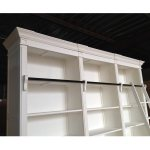 China Wooden White French Provincial Style Bookcase With