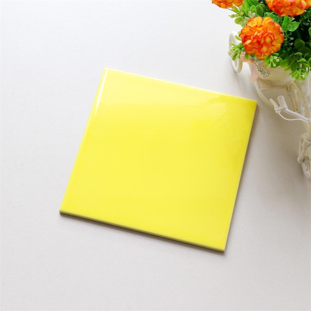 hot item 8 8inch 200 200mm yellow square tile ceramic tile subway tile