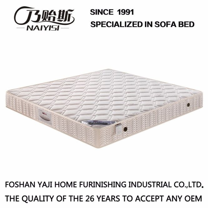 China High Knitted Fabric Cover With Non Glue Cotton Compression Spring Mattress Natural Latex For Hotel Bedding Furniture Fb701