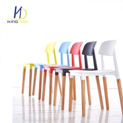 Dining Chairs Italian Design Upholstered Armless Chair China Replica Modern Wood Legs Backrest Pp Plastic