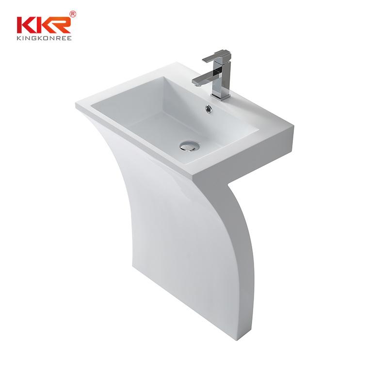 hot item white free standing sink bathroom wash basin