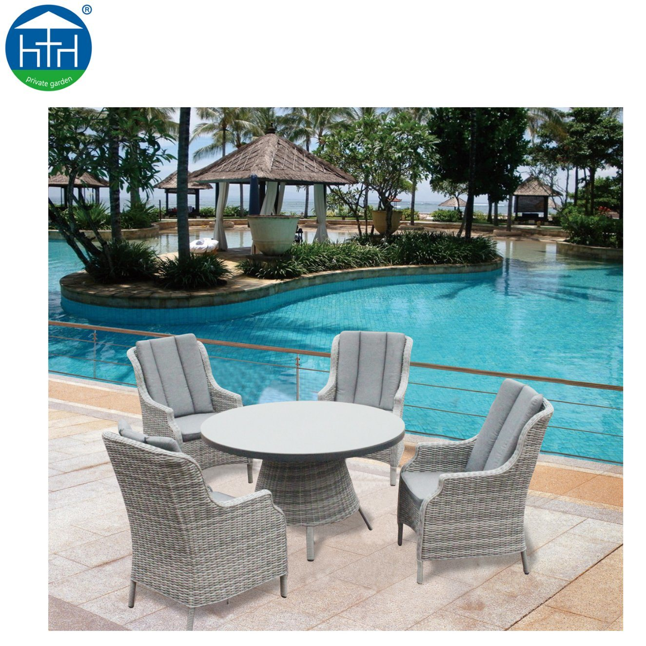 Patio Furniture Table And Chairs Hot Item Outdoor Furniture Square Pe Rattan Dining Set Table And Chairs