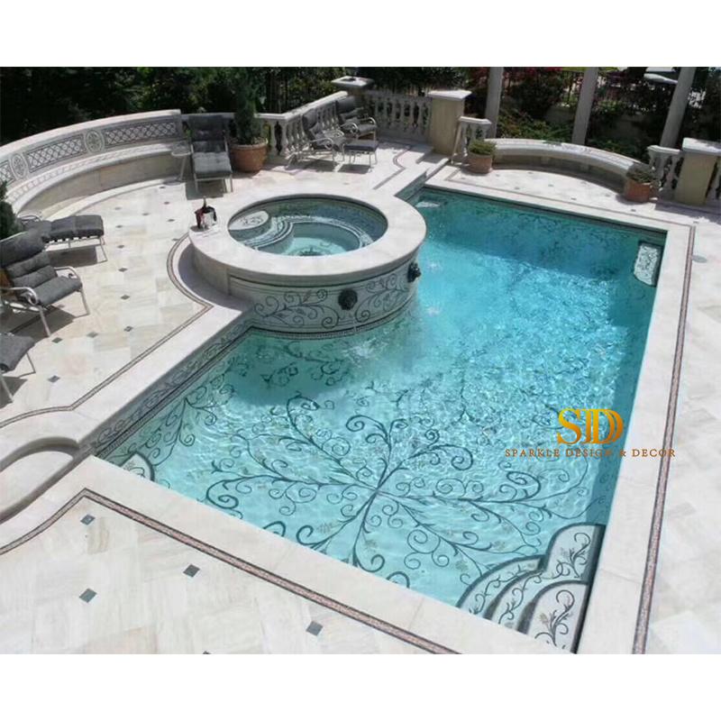 china mosaic pool tile patterns