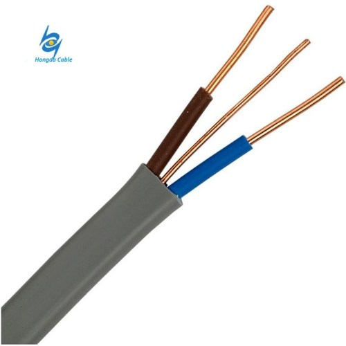small resolution of 1 5sq mm copper black pvc house wiring electric twist flat wire cable