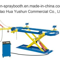 china auto repair measuring system car body alignment bench china chassis straightening bench car body bench [ 2000 x 1419 Pixel ]