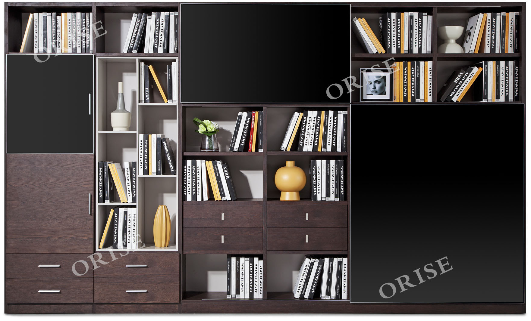 Hot Item Contemporary Home Office Furniture Oak Wood Bookcase
