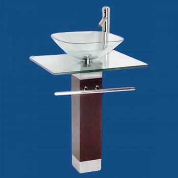 china glass vanity glass vessel sink