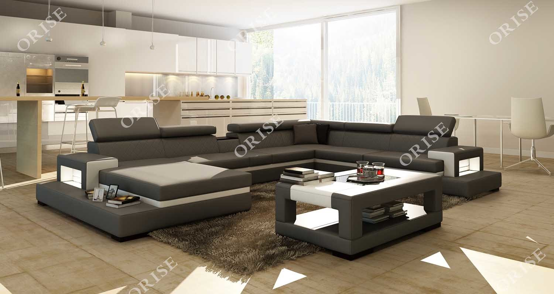 Hot Item Modern New Design Home Furniture Genuine Leathr U Shaped Couch