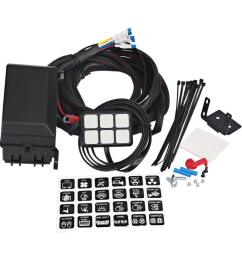 dc 12v control switch panel with wiring kit universal for car boat truck suv and rv [ 1001 x 1001 Pixel ]