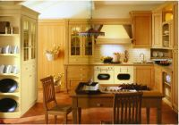 China Solid wood cabinets (Swan Castle) - China Kitchen ...