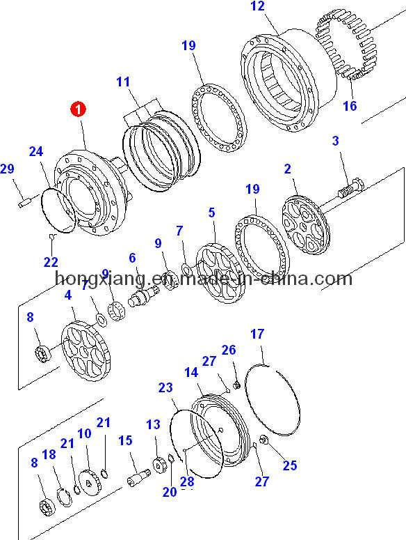 China Komatsu PC60-7 Spindle Kit-Travel Motor Parts Photos