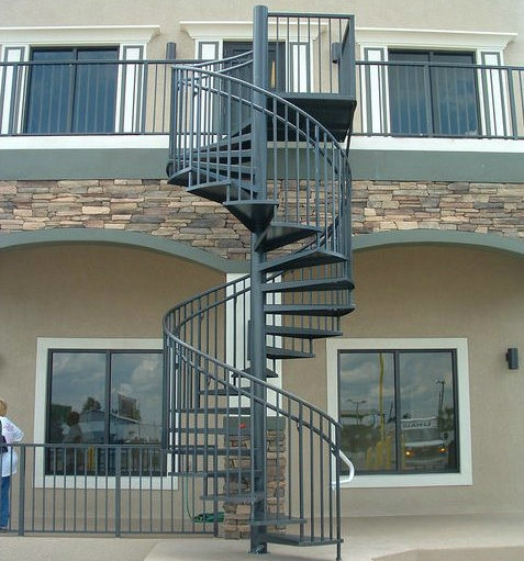 China Modern Outdoor Steel Staircase Design Galvanized Spiral | Iron Stairs Design Outdoor | Victorian | Curved Staircase Carpet | Cast Iron | Baluster Curved Stylish Overview Stair | Build Outdoor Stair