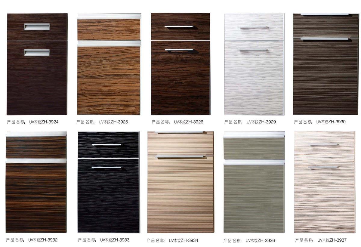 high gloss acrylic kitchen cabinets oakley backpack sink china uv wood grain cabinet door