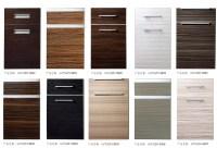 China UV High Gloss Wood Grain Kitchen Cabinet Door ...