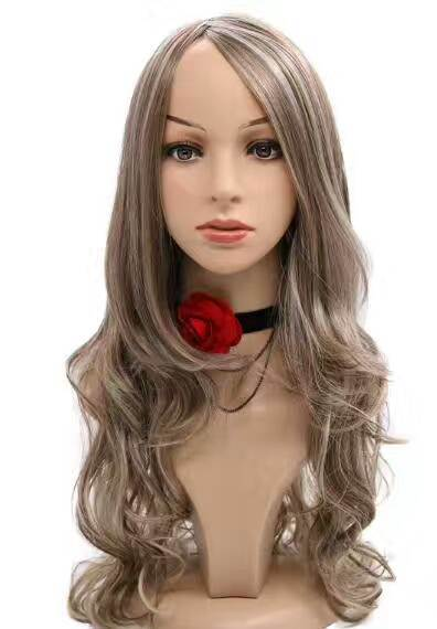 China Synthetic Hair Wigs For Black Women Black Ash Blonde Natural